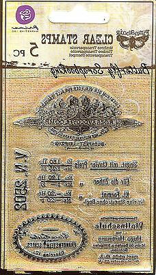 Prima Marketing VV3X4-60933 Vintage Vanity Clear Stamp, 3 by