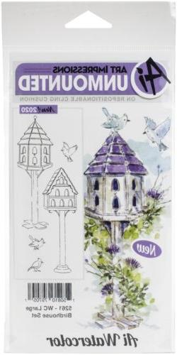 Art Impressions Watercolor Cling Rubber Stamps -WC Large Bir
