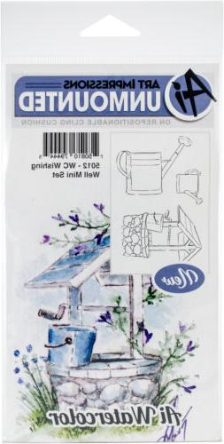 Art Impressions Watercolor Cling Rubber Stamps -Wishing Well
