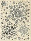 Winter Snowflake Sky Wood Mounted Rubber Stamp STAMPENDOUS R