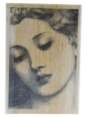 woman in repose rubber stamp