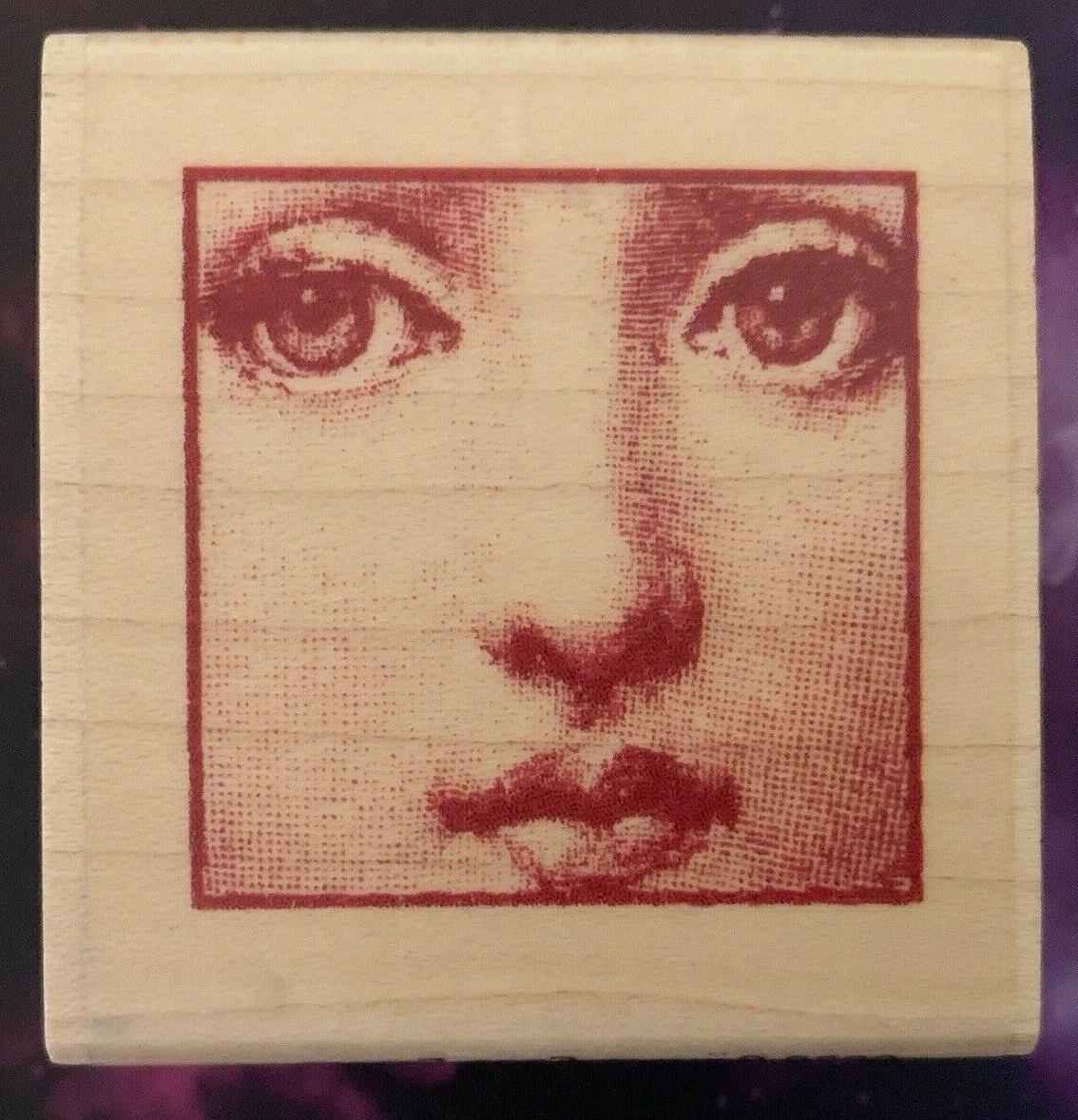 woman s face rubber stamp fornasetti soprano