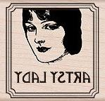 Hero Arts Wood-Mounted Rubber Stamp: Artsy Lady