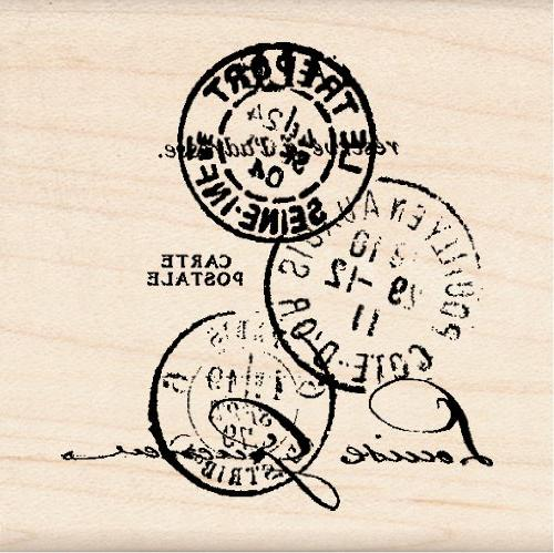 wood mounted rubber stamp k