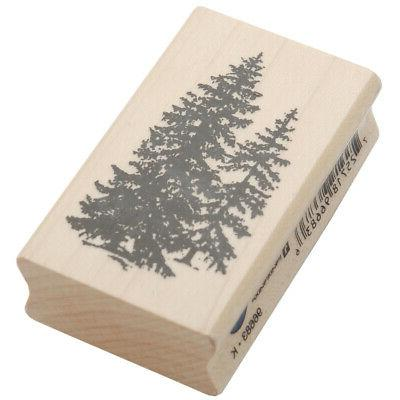 Inkadinkado Wood Mounted Rubber Stamp L-Pine Trees