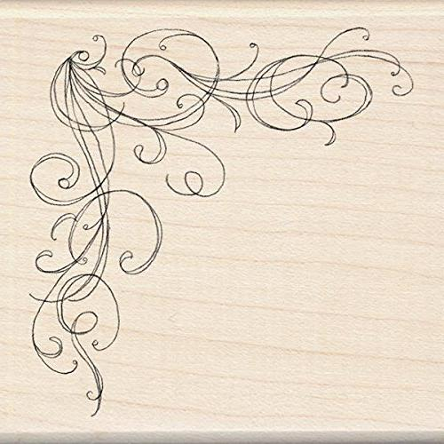 wood mounted rubber stamp o