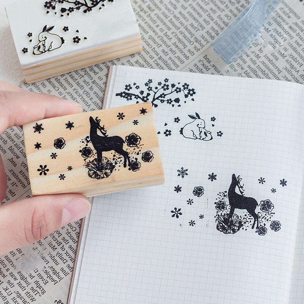 Wood Stamp Rubber Scrapbooking Stationery Scrapbooking