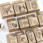 Wooden Rubber Stamp Lovely Animal Plant  Scrapbooking Statio