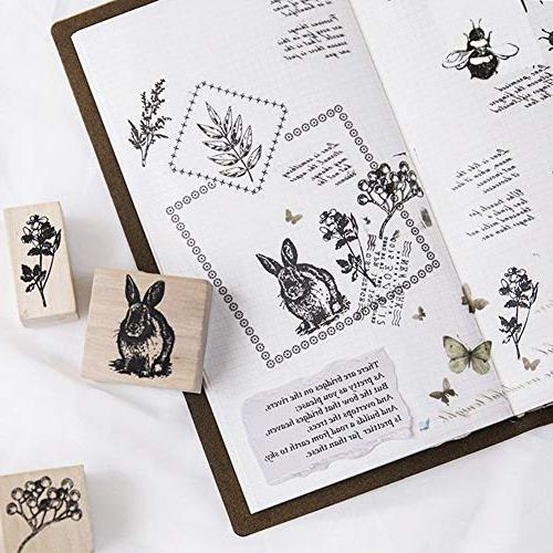 12pcs Animals Stamps Craft Card
