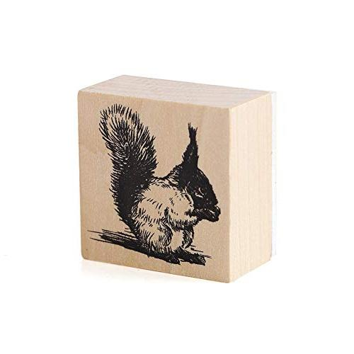 12pcs Wooden Stamps Animals and Stamps Set for Craft