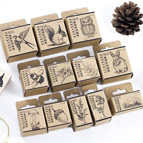 wooden rubber stamps animals plants