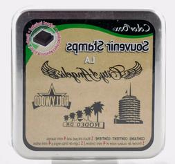 LA Souvenir Foam Mounted Rubber Stamp & Ink Pad Collection C