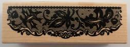 Inkadinkado Lace Trim Border Wooden Rubber Stamp #60-00576