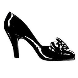 Ladies Pump lg., unmounted rubber stamp, high heeled shoe wo