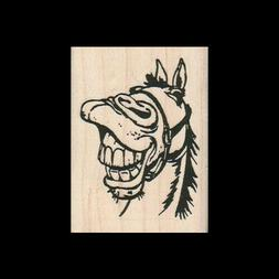 LAUGHING HORSE Rubber Stamp FUNNY HORSE Scrapbooking Supply