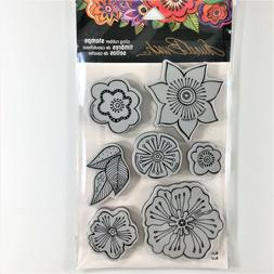 Stampendous Laurel Burch Blossoms Cling Rubber Stamp Set Flo