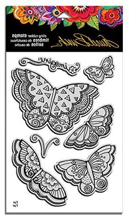 STAMPENDOUS Laurel Burch Cling Rubber Stamp Set, Imagine But