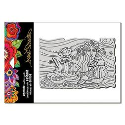 LAUREL BURCH RUBBER STAMPS CLING MERMAID FLOW NEW cling STAM
