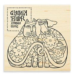 LAUREL BURCH RUBBER STAMPS KINDRED SPIRITS NEW wood STAMP