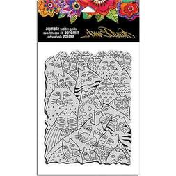 "Stampendous LBCR001  Laurel Burch Cling Stamp 7.75""X4.5""-Whi"