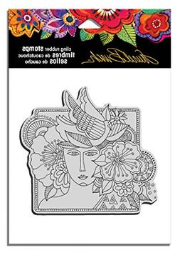 STAMPENDOUS LBCW005 Laurel Burch Rubber Stamp, Woman Spirit