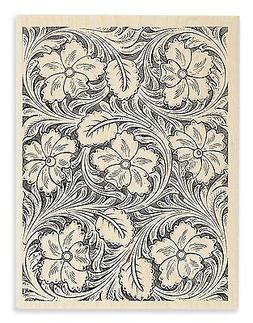 LEATHER FLOWERS Rubber Stamp R223 Stampendous! Brand NEW! fl