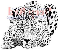 Deep Red Stamps Leopard Rubber Cling Stamp