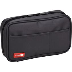 LIHIT LAB Pen Case, 7.9 x 2 x 4.7 inches, Black