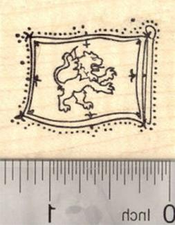 Lion Rampant Rubber Stamp, Royal Standard of Scotland, King