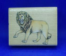 Lion Rubber Stamp by Rubber Stampede  Nature Wildlife