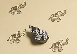 little elephant wooden block stamp