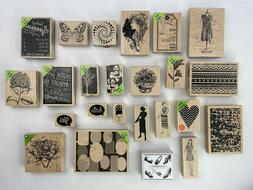 Lot of 24 Rubber Stamps Crafts Hobby Stampin Up Hero Arts Al