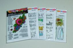 Lot of Clear Stamps - All Stampendous - 5 Packs