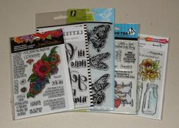 Lot of Clear Stamps - Ranger, Stampendous, Art Impressions,