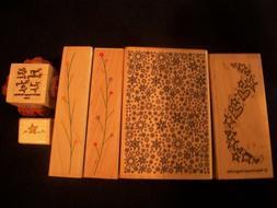 Lot of Hero Arts Inkadinkado Rubber Wood Stamps ~ Crafts, St