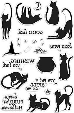 Hero Arts Luna the Halloween Cat Stamp