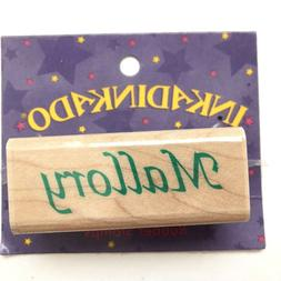 MALLORY Inkadinkado Name Personalized Calligraphy Rubber Sta