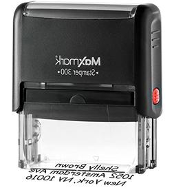 MaxMark Custom 4-Line Self Inking Return Address Stamp - Up