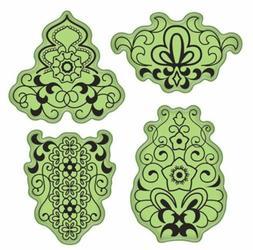 Inkadinkado Mehndi Merakesh Inspired floral design Cling Rub