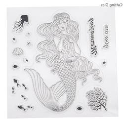 Mermaid Clear <font><b>Stamps</b></font> Seal For Diy Scrapb