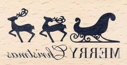 Merry Christmas Rubber Stamp Collection 59207 American Craft