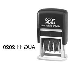 MICRO DATER 2000 PLUS Self Inking Rubber Stamp - Black Ink S