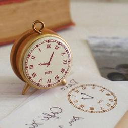 Mini Vintage Clock Stamp DIY Wooden Rubber Stamps For Scrapb