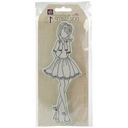 Prima Marketing Mixed Media Doll Cling Rubber Stamps, Doll w