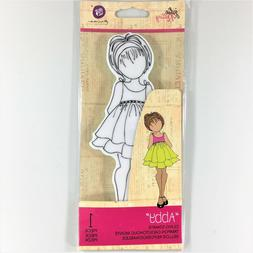 Mixed Media Doll Cling Rubber Stamps-Priscilla With Top Hat