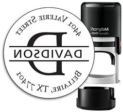 Monogram Address Stamp - Personalized Self Inking Rubber Sta