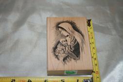 Inkadinkado Mother and Child Wood Stamp