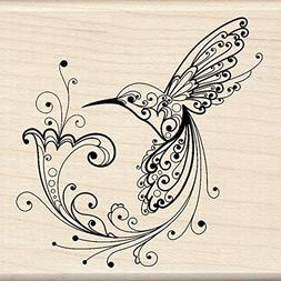 Inkadinkado Mounted Rubber Stamp-Hummingbird