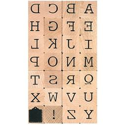 Artemio Mounted Rubber Stamp Set, Alphabet