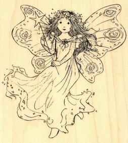 Penny Black Mounted Rubber Stamp 4X4.5-Winged Fairy 130477